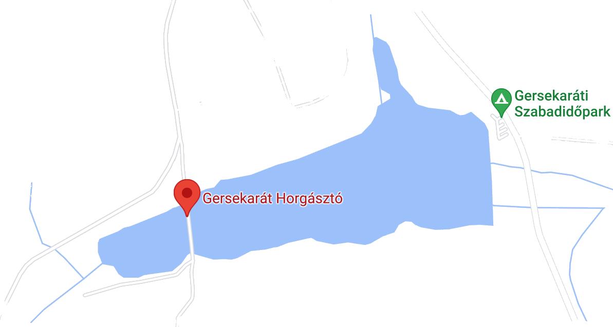 Gerseüdülő, Gersekarát Sárvíz-tó térkép